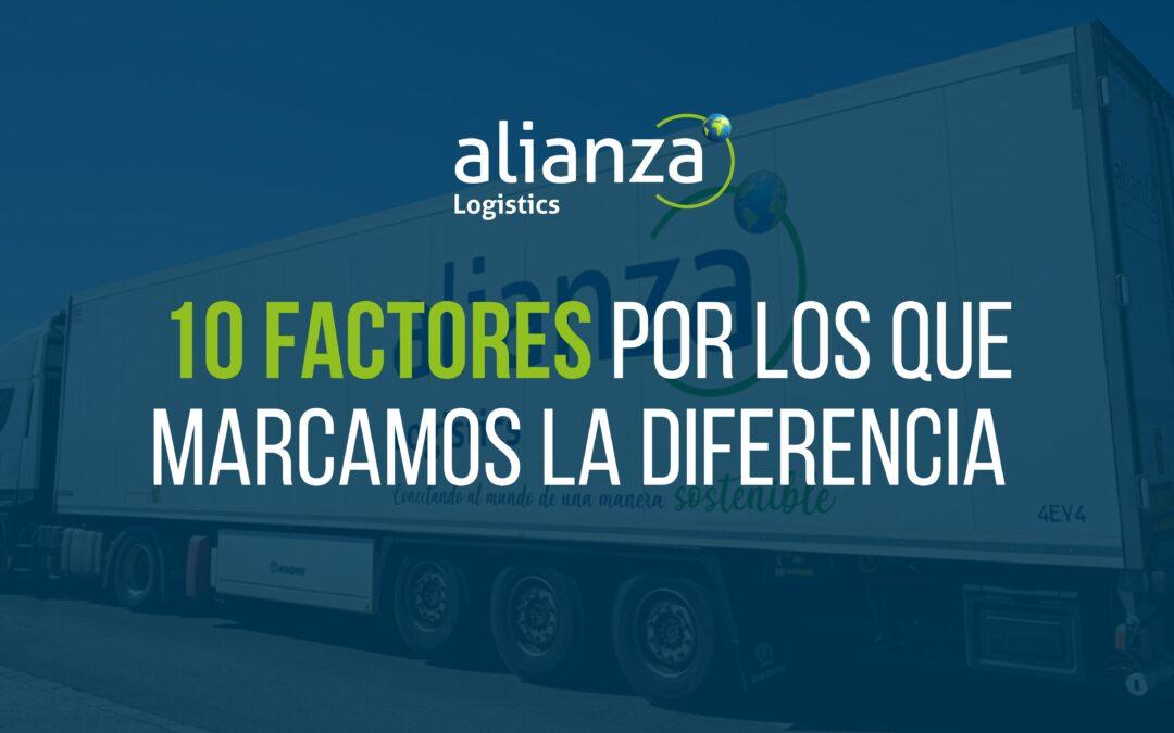10 Factores por los que Alianza Logistics marca la diferencia